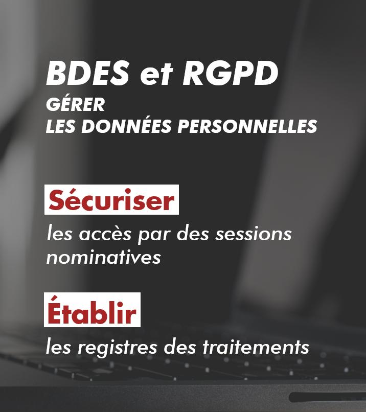 BDES gestion des données personnelles