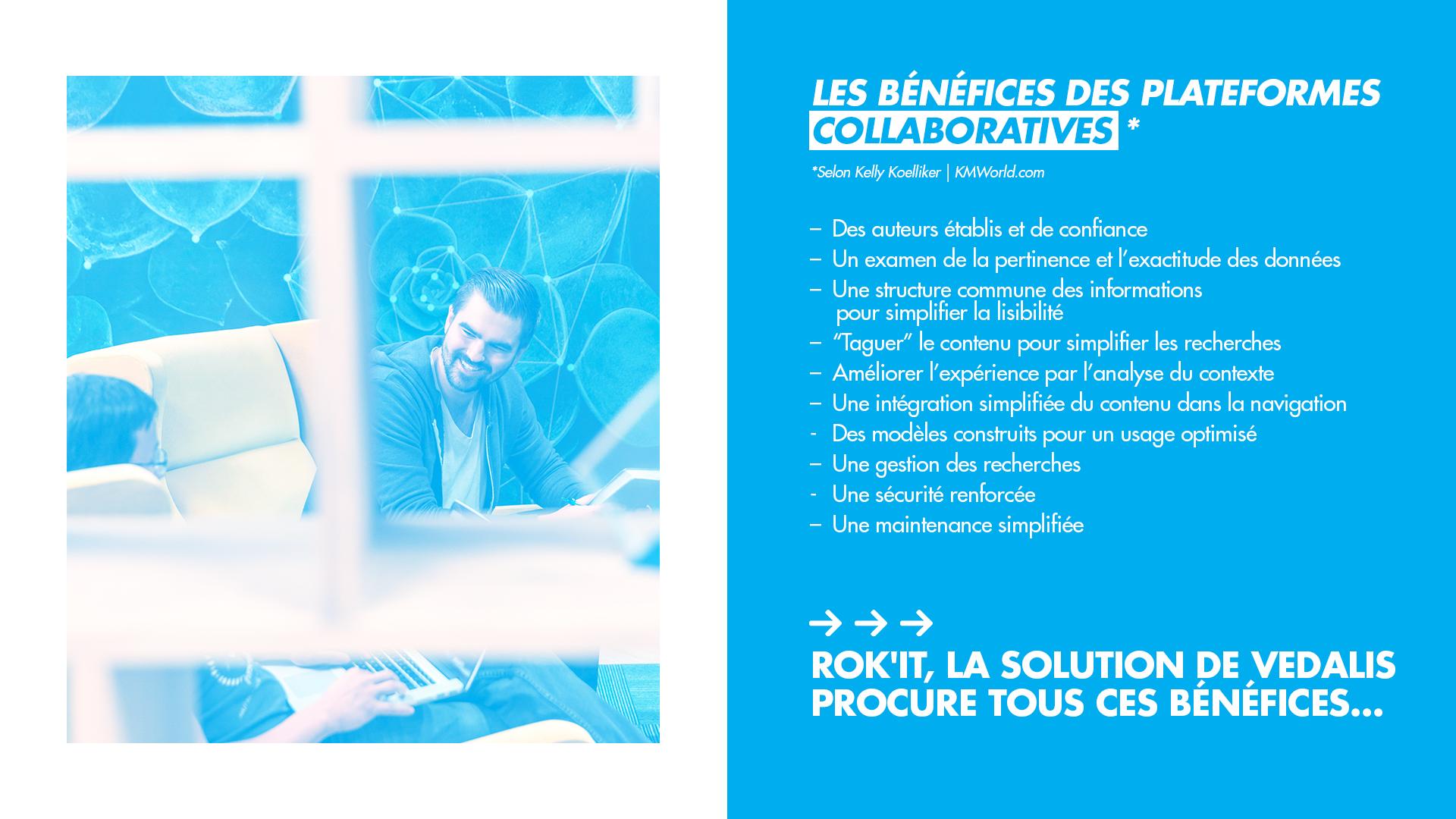 Avantages de plateformes collaboratives au sein des organisations